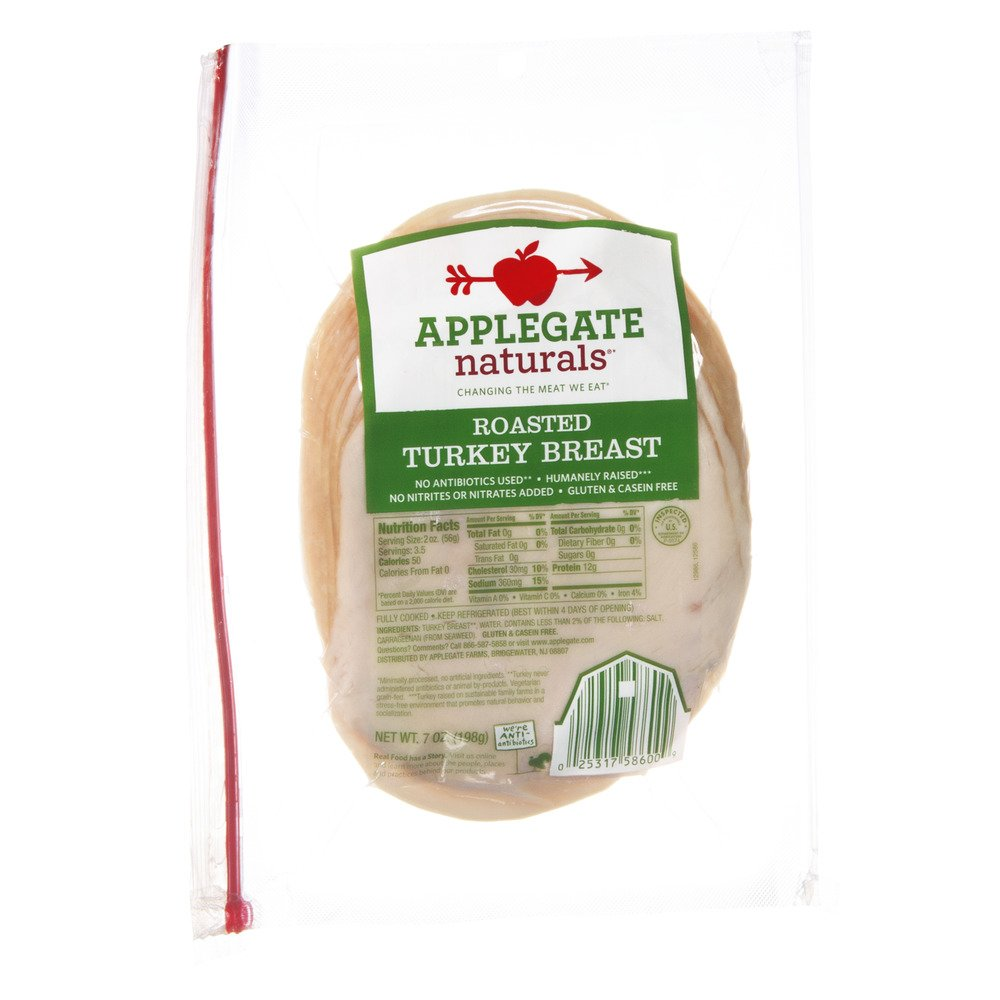 Applegate Naturals Roasted Turkey Breast, 7 Ounce (Pack of 12)
