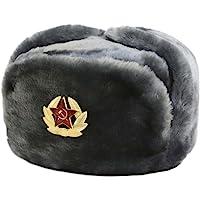 Hat Russian Soviet Army Air Force KGB Fur Military Ushanka * GR * Size XL Gray
