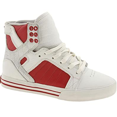 64a8068221c1 Image Unavailable. Image not available for. Color  Supra Muska Skytop (White  red)