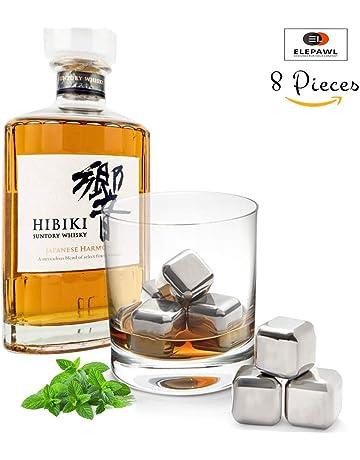 Iceberg Whisky 8 Piezas - Cubitos de Hielo para whisky - Acero Inoxidable, con pinza