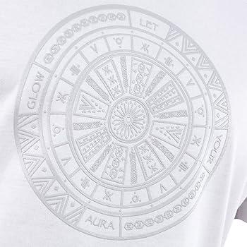 Camiseta de Manga Corta para Hombre con Estampado Azteca RR Blanco ...