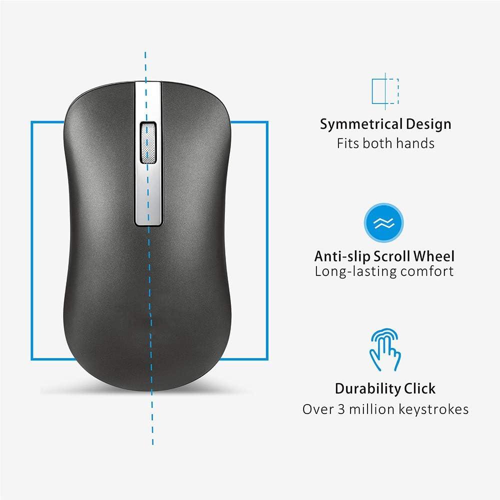 NCKLY Souris sans Fil Rechargeable Ordinateur Souris Bluetooth Mute Pc Portable 2.4Ghz Mini USB Souris Ergonomique sans Bruit Bluetooth 4.0 Blue