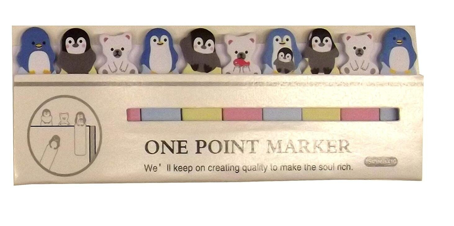 color penguin 3.5 * 1 * 0.5cm Marcap/áginas dise/ño de animales Cartoon Stationery