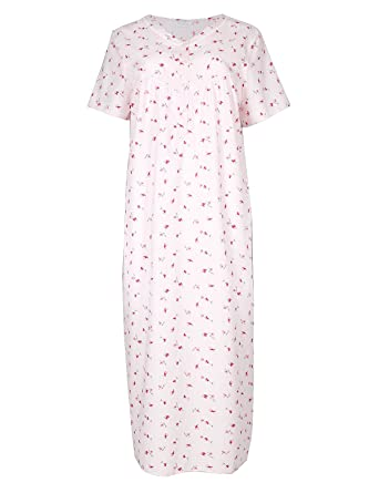 02ec5eb3077 marks   spencer Pink Ditsy Floral Nightdress Nightie M S Collection  Nightwear ...