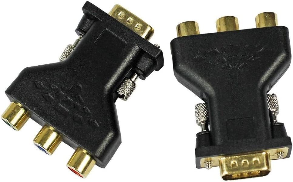 Cable Length: na Need System Support PC TV-Out Function Connectors Computer Graphics Card GPU HD 15VGA to 3 RCA Component YPbPr RGB AV Adapter Connector