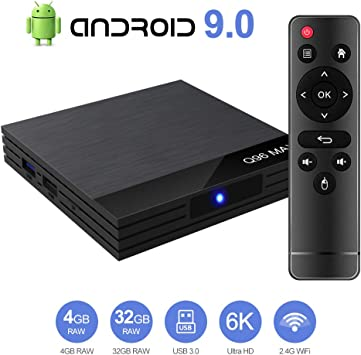 Byttron Android 9.0 TV Box Smart Media Box 4GB RAM 32GB ROM H6 Quadcore WiFi 2.4G Ethernet 2USB 3.0 Set Top Box Support 6K Ultra HD Internet Video Player: Amazon.es: Electrónica