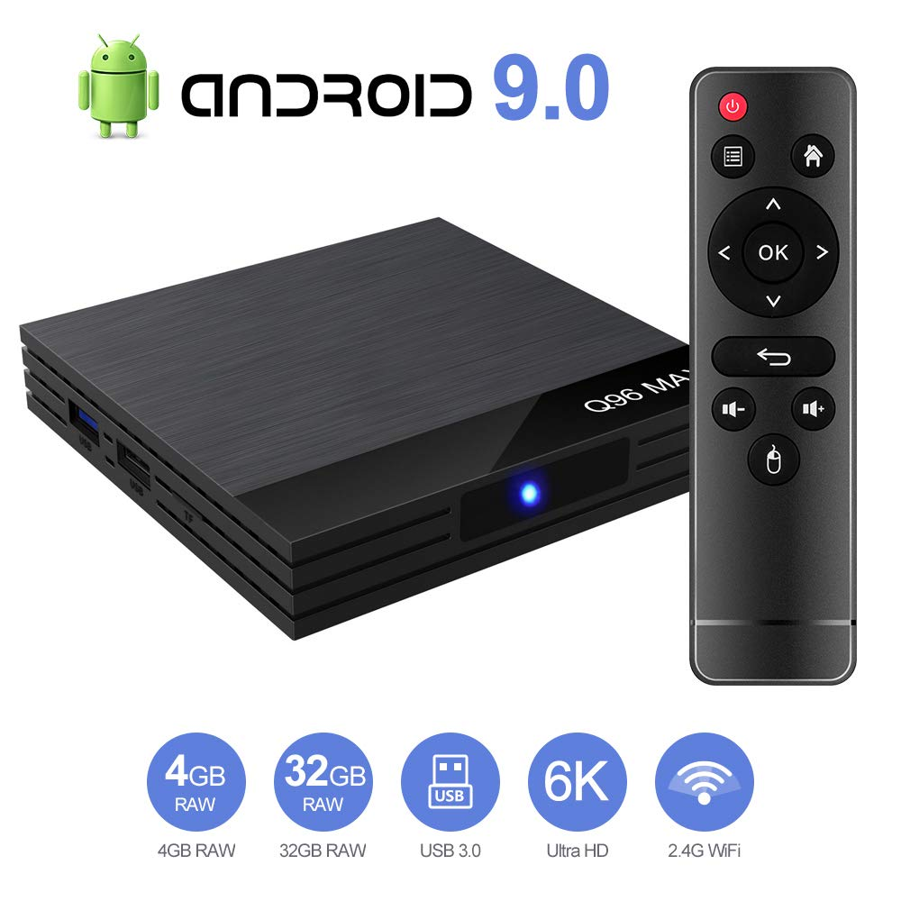 Byttron Android 9.0 TV Box Smart Media Box 2GB RAM 16GB ROM RK3228A Quad Core Bluetooth 4.0 WiFi 2.4G /& 5G Ethernet 2USB Set Top Box Support 4K Ultra HD Internet Video Player