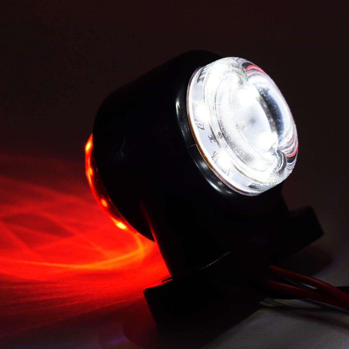 luci di posizione laterali camion rimorchio rosso bianco 4/X 6/SMD G limitazione LED luci 24/V luci di posizione