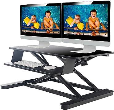Mesa de pie Ajustable en Altura, convertidor de Mesa de pie, Mesa ...