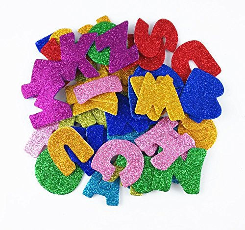 Honbay Pack of 8 Sets (Approx 208pcs) Colorful Self Adhesive Letter Foam Glitter Stickers -