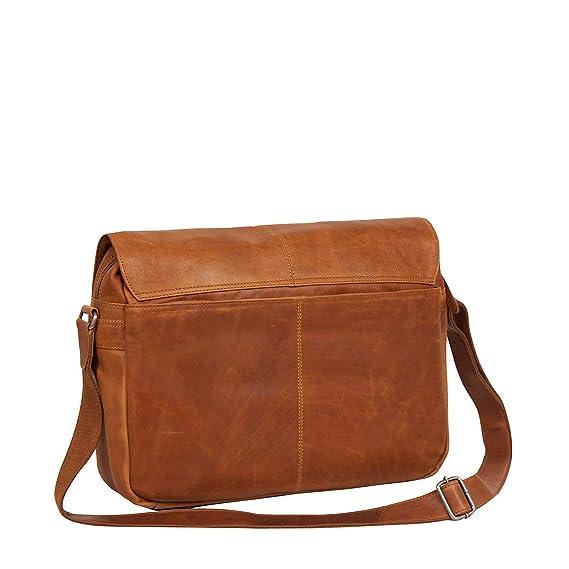 2784672a9e9 The Chesterfield Brand Richard Laptop-Messenger Bag 14? cognac:  Amazon.co.uk: Clothing