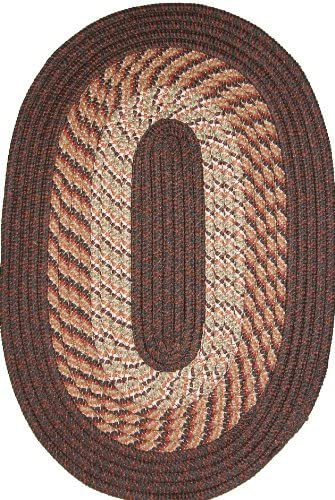 Plymouth 8 x 11 Braided Rug in Chestnut Brown