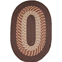 Plymouth 24 x 60 Runner Braided Rug in Chestnut Brown
