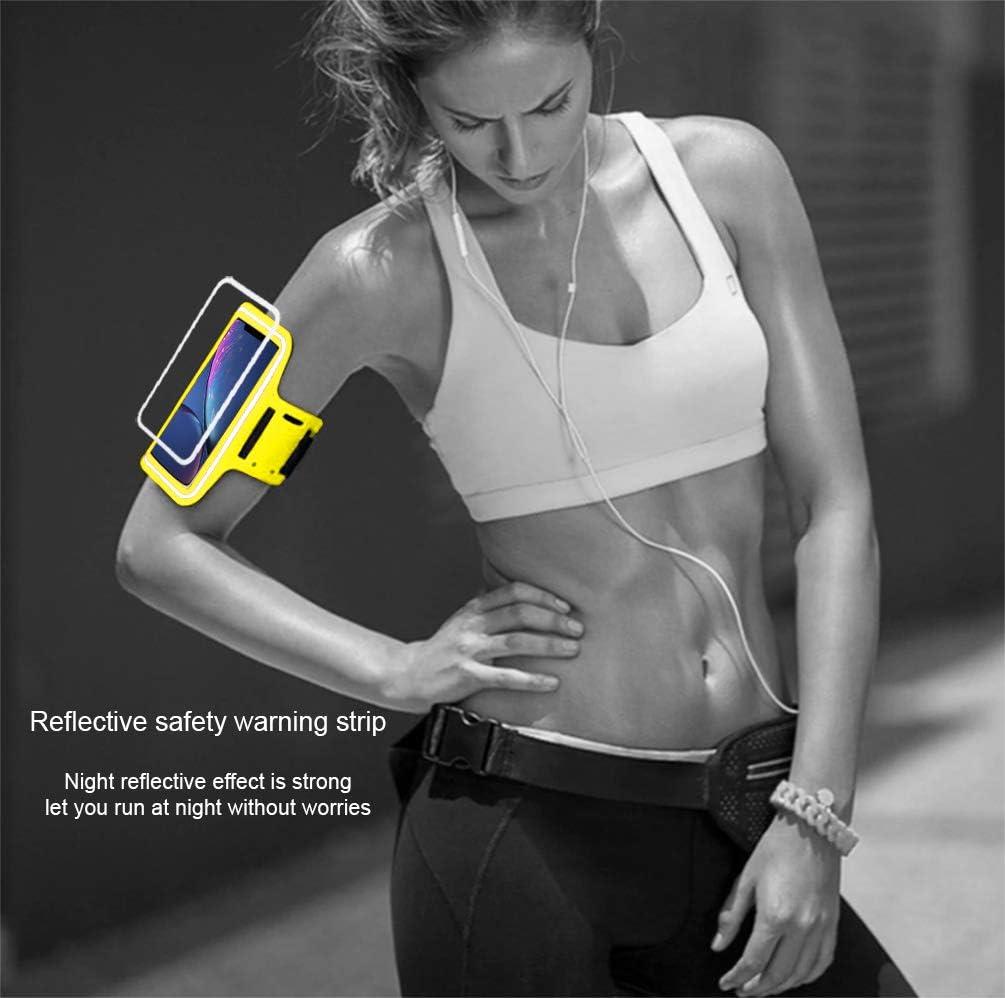 Brazalete Deportivo movil Running Deporte Compatible con Smartphones de hasta 6.7 de Pantalla Funda Banda Deportiva Transpirable Bolsillo para Llaves Cables Auriculares Tarjetas Turquesa