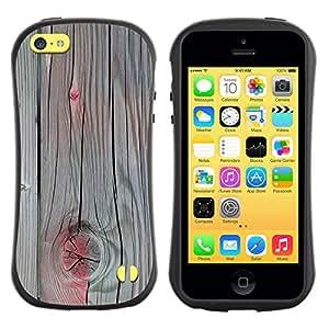 """Pulsar iFace Series Tpu silicona Carcasa Funda Case para Apple iPhone 5C , Accent pintura gris madera agrietada"""""""