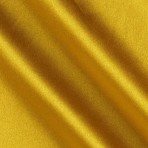 Telio Tahari Stretch Satin Fabric, Golden Yellow, Fabric by the yard