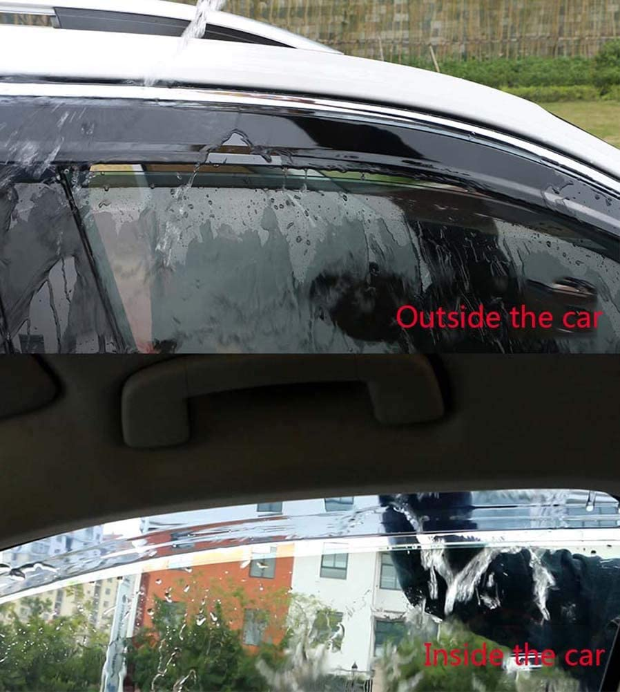 4PCS puerta de coche Spoiler, Semi-transparente Baffle PC ...