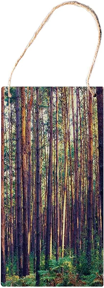 MNUT - Señales de Madera para Colgar en la casa de Granja, árboles ...