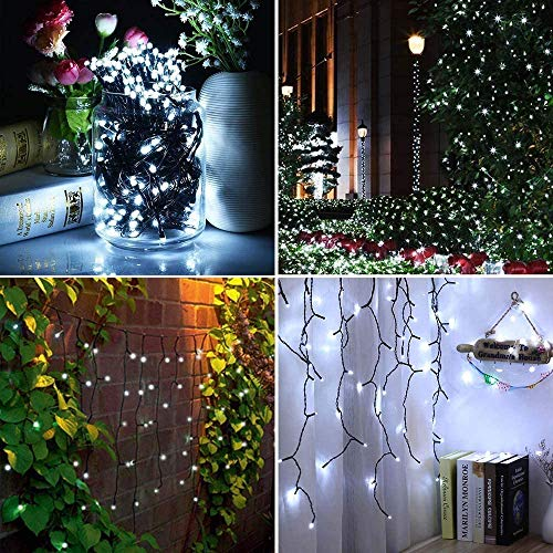 Solar Lights Outdoor Garden,Cshare 200 LED 72ft/20m Solar String Lights 8 Modes IP65 Waterproof Outdoor/Indoor Solar Powered Lighting for Yard,Pathway,Christmas Tree,Home,Wedding,Party (Cool White)