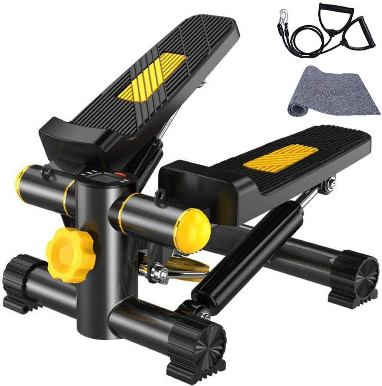 Vinteky Stepper 2 en 1 Cuerdas de Resistencia - Escaladora y Swing Stepper para Usuarios Principiantes y Avanzados con Pantalla Multifuncional