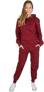 MALAIKA ® Womens Plain 2Pcs Tracksuit Pull Over Hooded top Full Length Bottom Ladies Plain Tracksuit Plain Hoodie Plain Bottom Trouser Small to XXXXXL