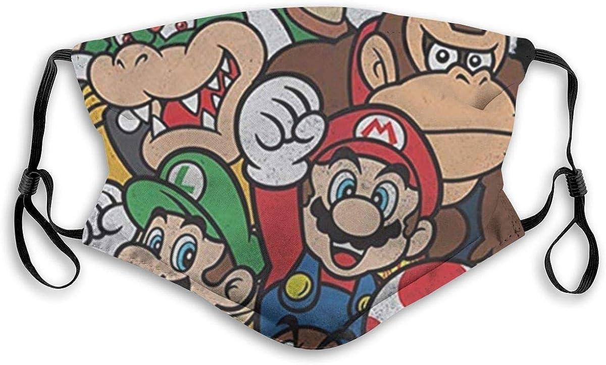 DDOBY Super Mario Party Capucha protectora de moda | Lavable y reutilizable | Lindas máscaras para mantener el calor | Unisexo