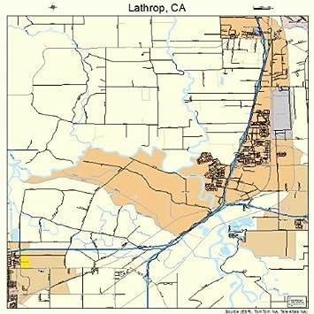 Amazon Com Image Trader Large Street Road Map Of Lathrop