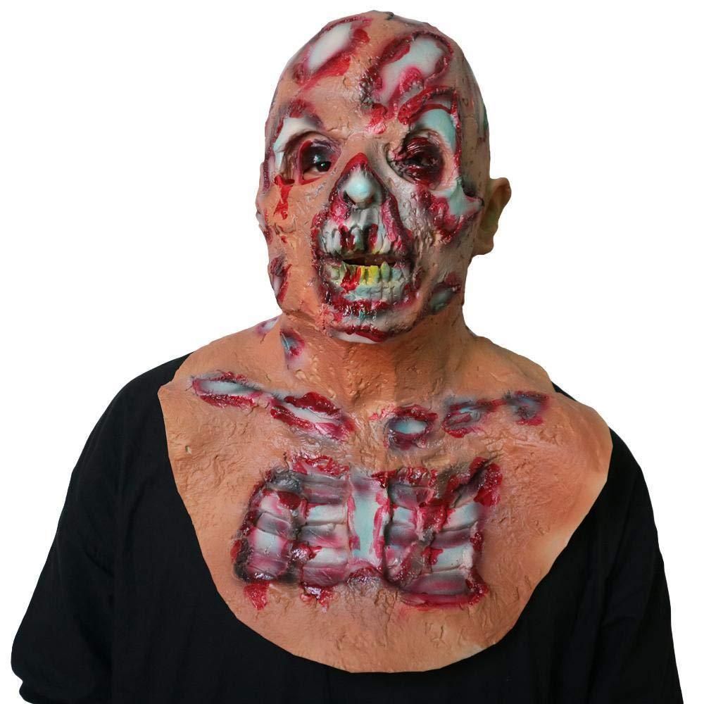 Circlefly Halloween Horror Fäulnis zombiemaske Weihnachten Maskerade Dämon Schädel Perücke B07GZPMFS7 Masken für Erwachsene Am praktischsten | Hohe Qualität und günstig