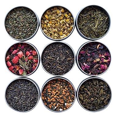 Heavenly Tea Leaves Tea Sampler, 9 Flavor Variety Pack