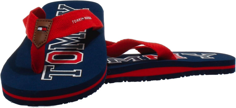 Tommy Hilfiger Flip Flop Bleu Textile Enfant Tongs Sandales
