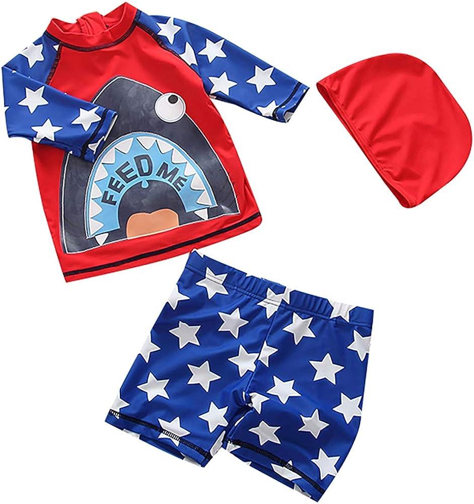 Baby Boy One-Piece Swimsuit UPF 50 -Sun Protective Sunsuit Swimwear
