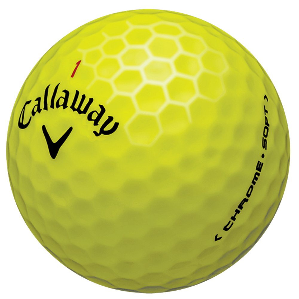 New 2017 Callaway Chrome Soft Golf Balls - Made in the USA ( 12 Pack) Choose your Color (Color - Yellow (1 Dozen))