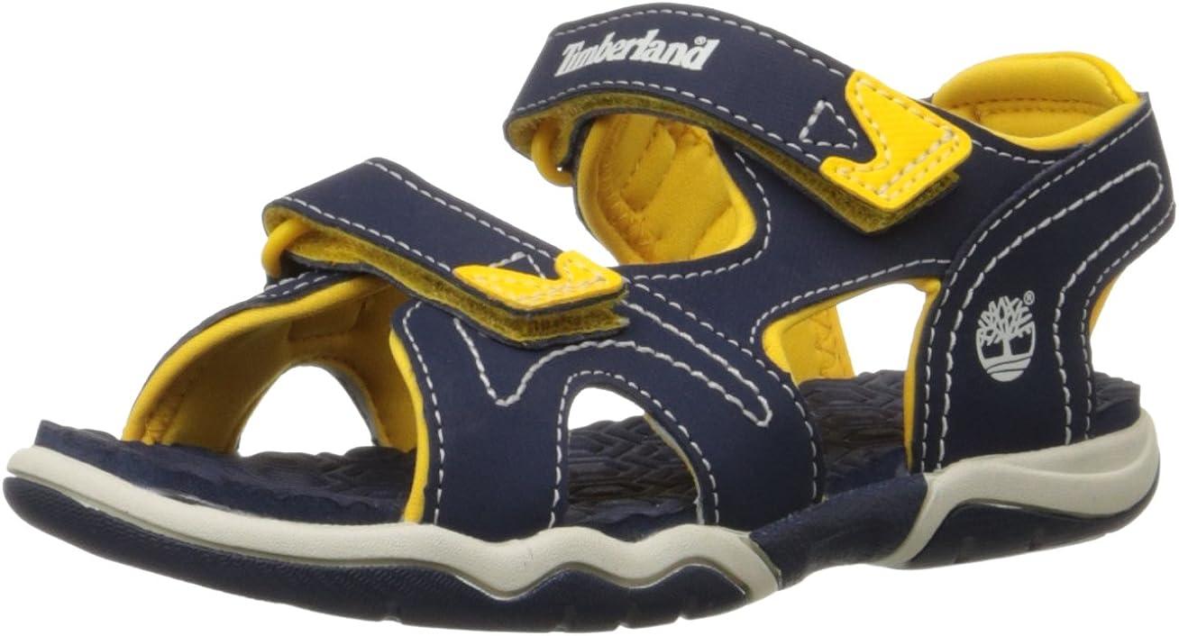 Timberland Adventure Seeker Two-Strap Sandal (Toddler/Little Kid),Navy/Yellow,6 M US Toddler