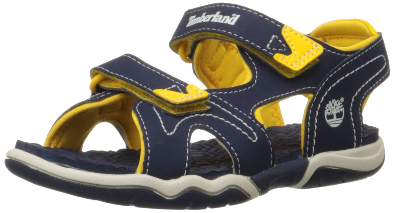 Timberland Adventure Seeker Two-Strap Sandal (Toddler/Little Kid),Navy/Yellow,5 M US Toddler by Timberland