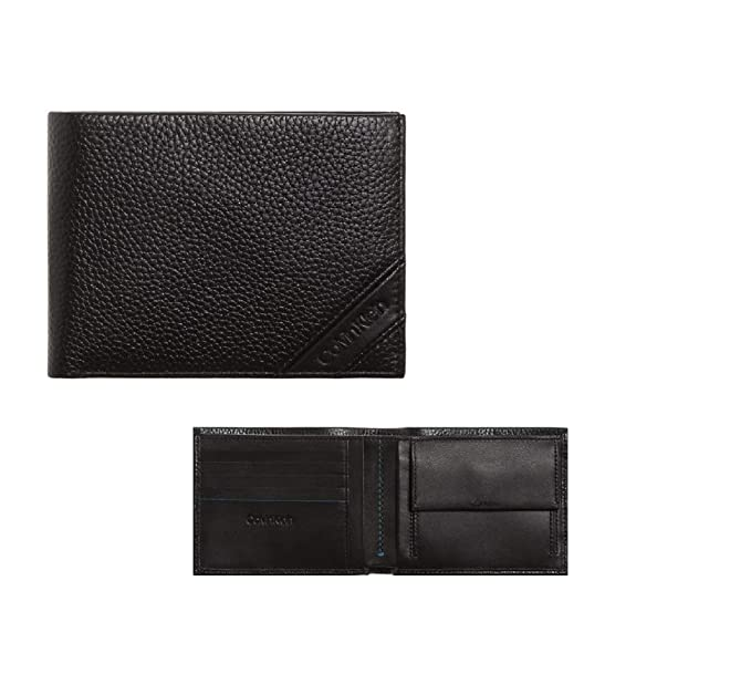 873cd79cb0 Calvin Klein Pebble 5cc Coin, Men's Wallet, Black, 9.5x12.4x1.9 cm ...