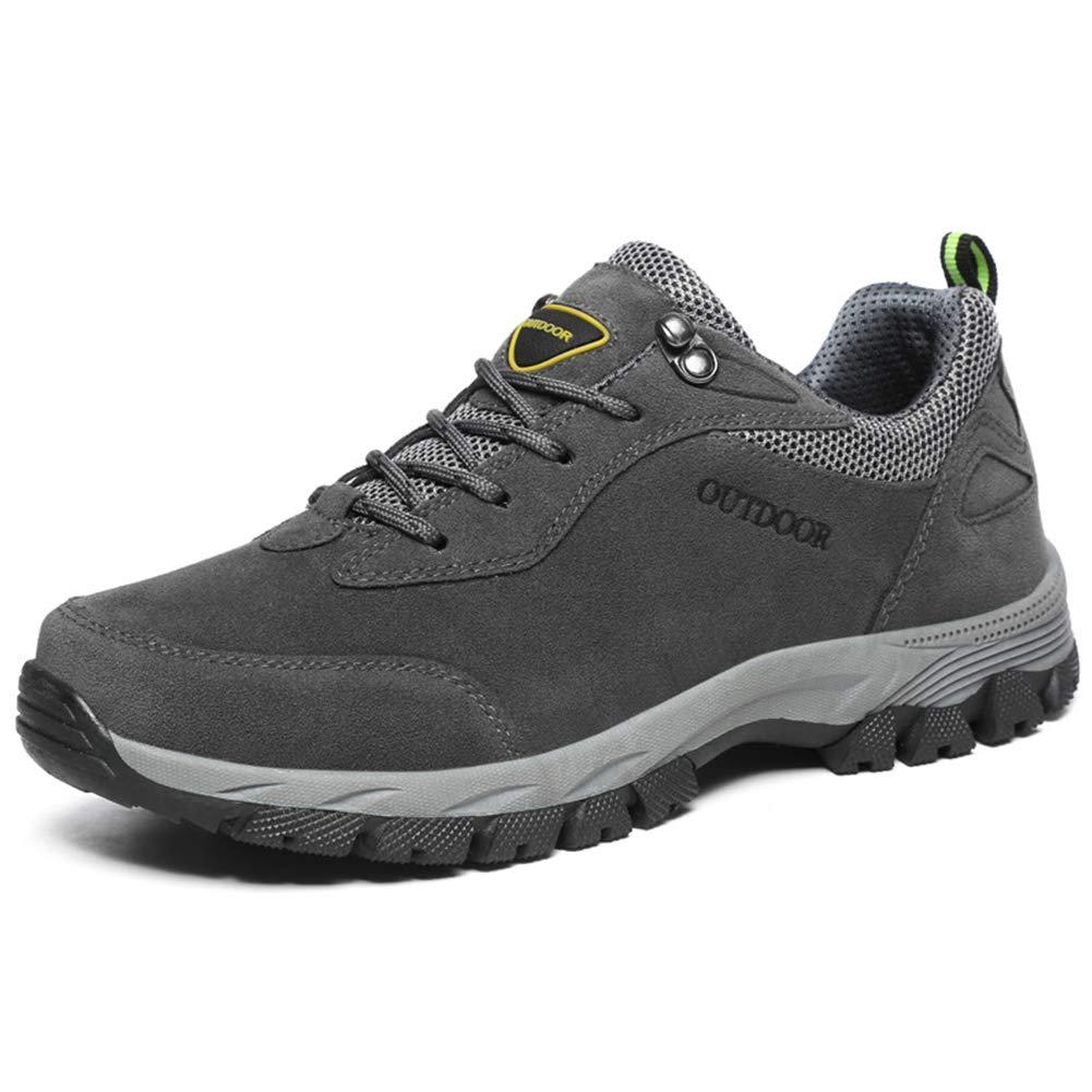 - SELCNG Chaussures de randonnée Unisexes Chaussures de Marche imperméables Chaussures de Marche pour Hommes avec Chaussures de randonnée pour Sports de Plein air-gris-42