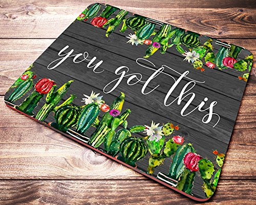 Cactus Succulent Mouse Pad You Got This Inspirational Quote Green Watercolor Mousepad Womens Desk Accessories Coworker Gifts