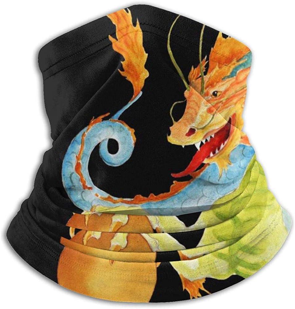 Royfox Dragon Categoría Moda Fleece Neck Warmer Diadema multifunción para Hombres y Mujeres Máscara Deportiva a Prueba de Viento