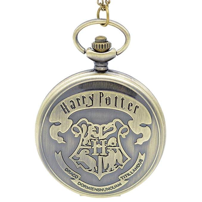 Harry Potter Hogwarts de bronce antiguo reloj de bolsillo ...