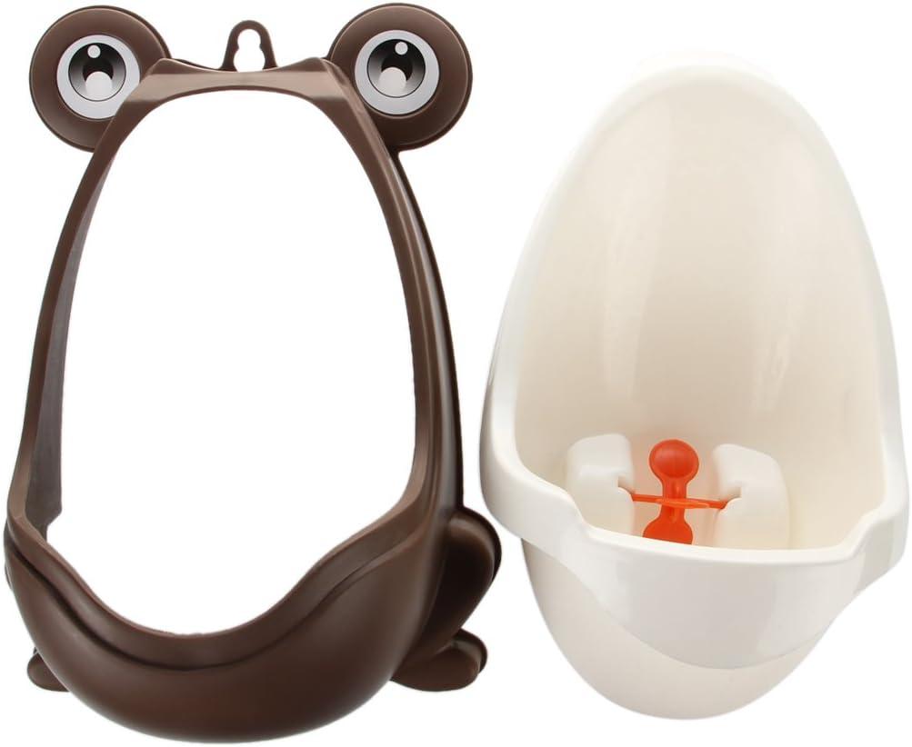 R Kaffee Stilvolle Frosch Kinder Staender Vertikale Urinal wandhaengend Urin Rille Baby-Pissoir TOOGOO