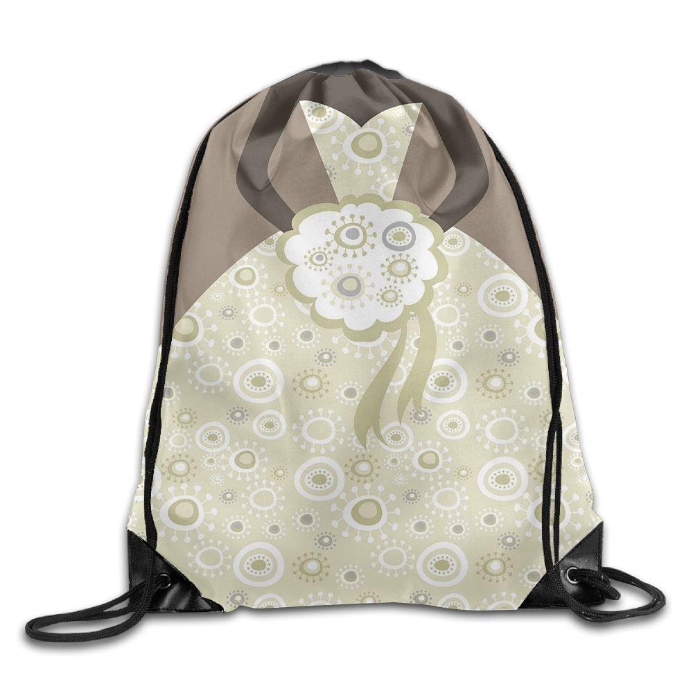 WSXEDC Wedding Bride Drawstring Bag Backpack Stylish Lightweight Durable Cute Bag For Yoga Sport Travel