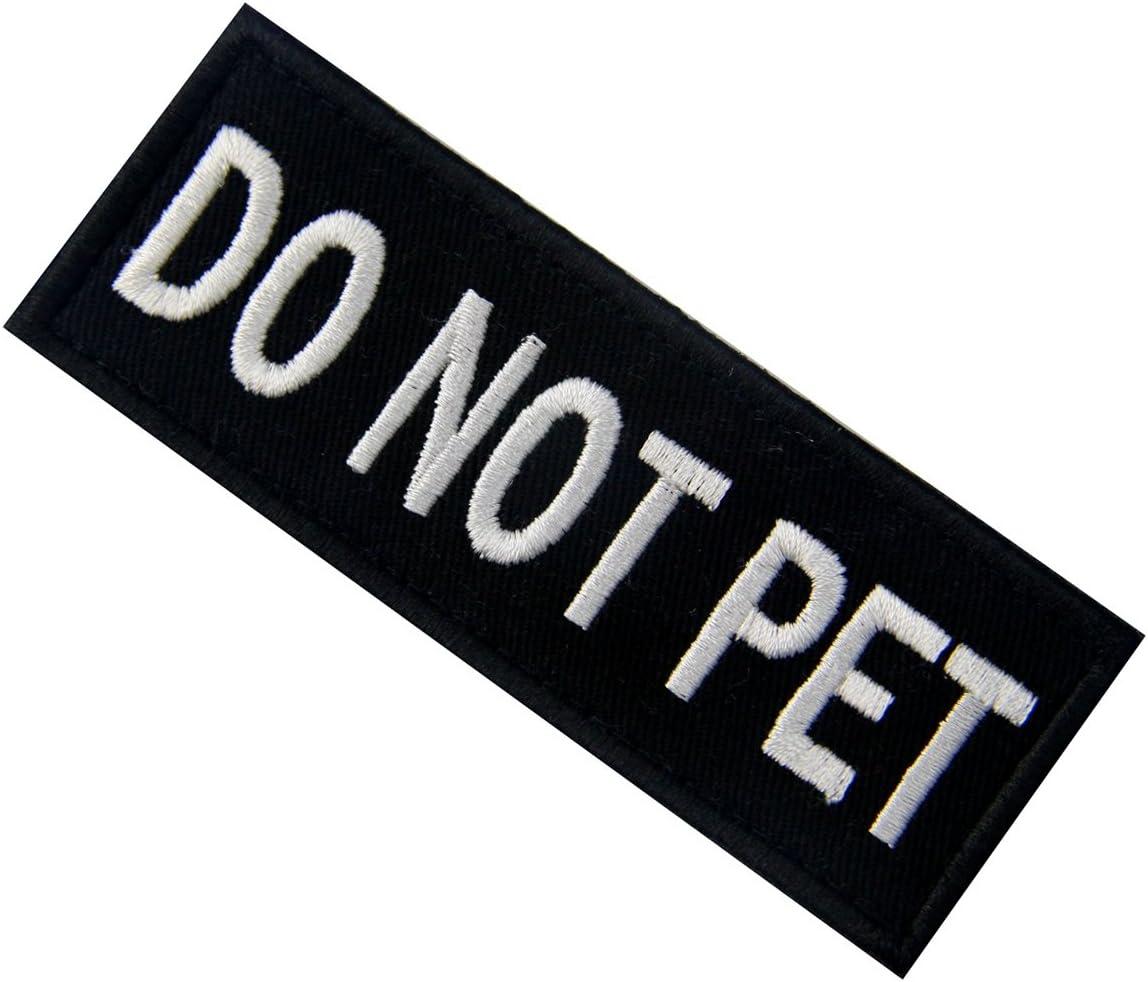 Do Not Pet No mascota Servicio de Animales Emblema de Chalecos//Arneses Broche Bordado de Gancho y Parche de Gancho y bucle de cierre