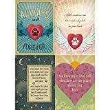 Tree-Free Greetings Forever Friends Pet Sympathy Card Assortment, 5 x 7 Inches, 8 Cards and Envelopes per Set (GA31528)