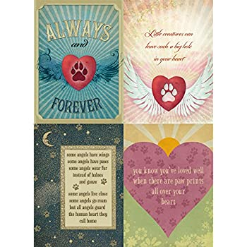 Amazon tree free greetings four legged friends pet sympathy tree free greetings forever friends pet sympathy card assortment 5 x 7 inches 8 cards and envelopes per set ga31528 m4hsunfo