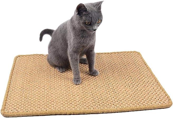 FOONEE Alfombrilla para rascar Gatos, rascador de Cuerda de sisal Natural para Gatos, Alfombra de Gato, Tabla de rascar, Mesa, sofá, Silla, Protector ...