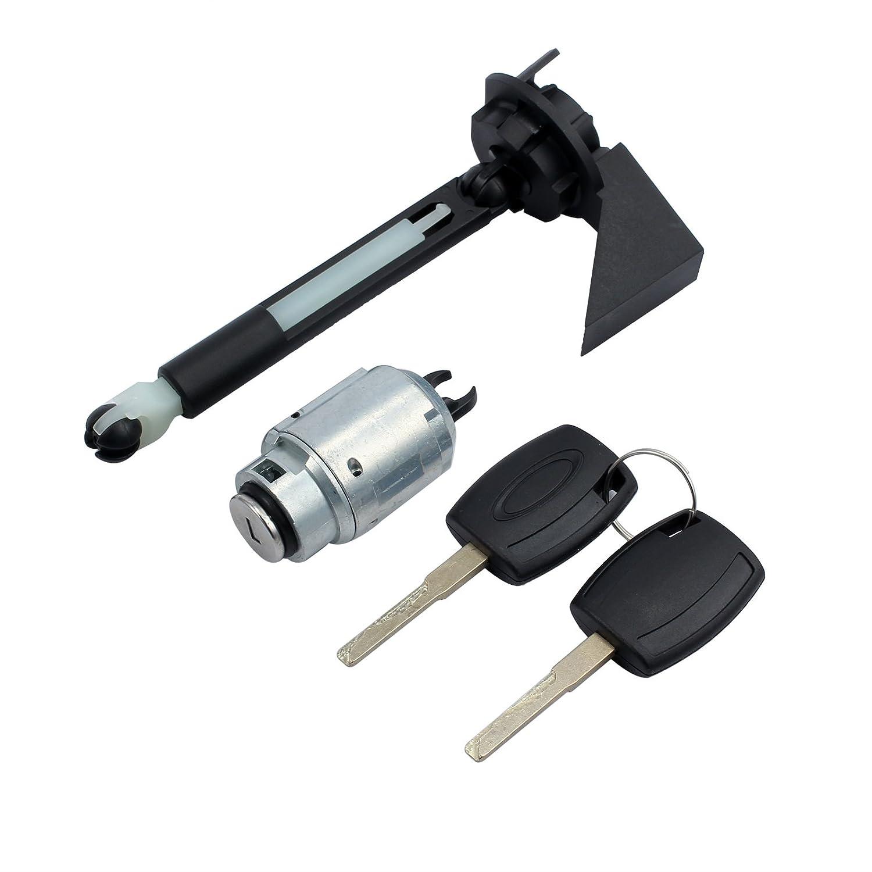 Justech Set di Riparazione Blocco Cofano con 2 Chiavi Bonnet Hood Release Lock Assembled per Ricambio il Cofano Cappellino per Ford Focus MK2 2004-2012 1355231