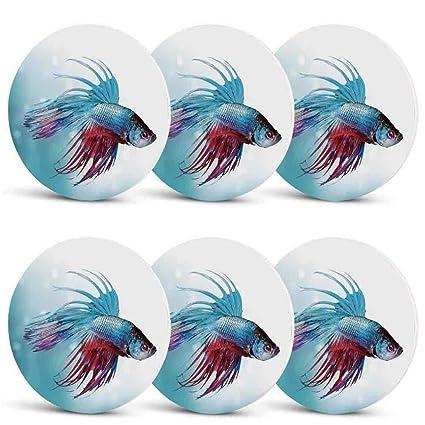 861d23e16af1af Amazon.com | Aquarium Waterproof Coasters, Siamese Fighting Betta ...