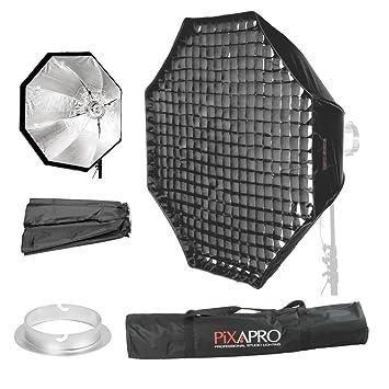 PIXAPRO Studio luz estroboscópica Flash octogonal de empotrable cuadrado rectangular tira paraguas de fácil apertura rápida