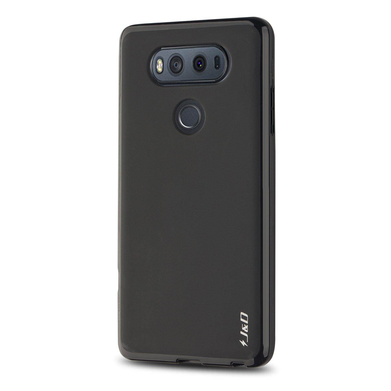 J&D Case Compatible for LG V20 Case, [Drop Protection] [Slim Cushion] Shock Resistant Protective TPU Slim Case for LG V20 Bumper Case - Black