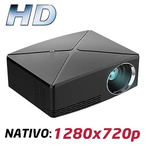 Proyector Full HD 1080P, LUXIMAGEN HD400 (2019 Nuevo), Proyector Maxima luminosidad Portátil LED Cine en casa 1920x1080 HDMI USB VGA para ...
